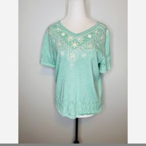 Vintage Alfred Dunner Embroidered Blouse